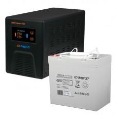 Комплект ИБП Инвертор Энергия Гарант 750 + Аккумулятор 55 АЧ