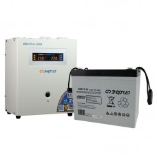 Комплект ИБП Инвертор Энергия ИБП Pro 1000 + Аккумулятор 75 АЧ