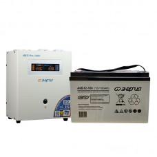 Комплект ИБП Инвертор Энергия ИБП Pro 1000 + Аккумулятор 100 АЧ