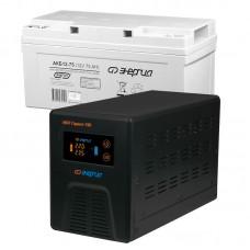 Комплект ИБП Инвертор Энергия Гарант 750 + Аккумулятор 75 АЧ