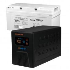 Комплект ИБП Инвертор Энергия Гарант 1000 + Аккумулятор 75 АЧ