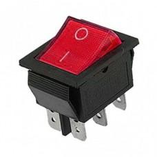Кнопка сетевая 220В 16А (6с) 2-х позиц.